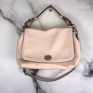 COACH bag in blush pink satchel with strap